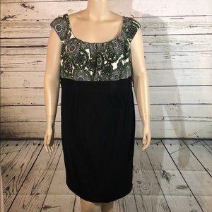 Dressbarn Woman NWT 20 Paisley Print Empire Dress